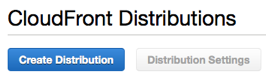 CloudFront Create Distribution Button
